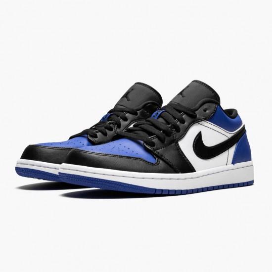 "Air Jordan 1 Low ""Royal Toe"" Unisex Basketball Shoes CQ9446 400 Sport Royal/Black-White AJ1 Jordan Sneakers"
