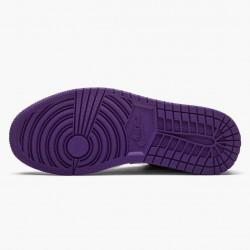 "Air Jordan 1 Retro Low ""Court Purple"" Unisex Basketball Shoes 553558 501 Court Purple/White-Black AJ1 Jordan Sneakers"
