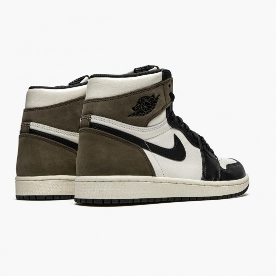 "Air Jordan 1 Retro High ""Dark Mocha"" Unisex Basketball Shoes Sail/Dark Mocha-Black-Black 555088 105 AJ1 Jordan Sneakers"