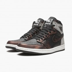 """Air Jordan 1 Retro High """"Light Army Rust Shadow Patina"""" 555088-033 Black/Grey-Rust Unisex Jordan Sneakers"""
