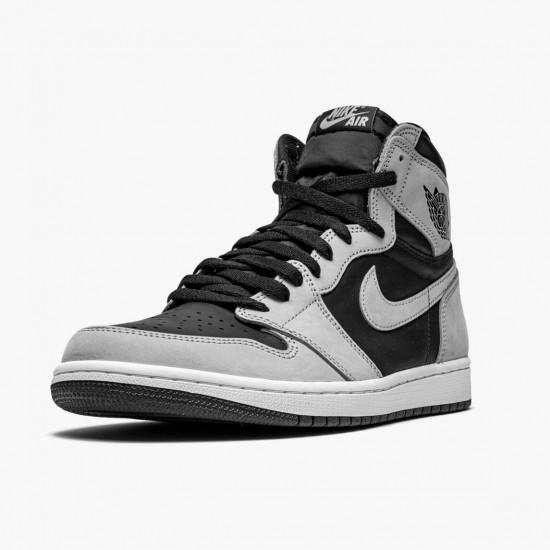 "Air Jordan 1 Retro High ""Shadow 2.0"" 555088-035 Black/White-Light Smoke Grey Unisex Jordan Sneakers"