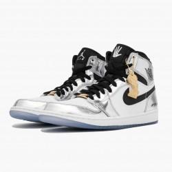 "Air Jordan 1 Retro High ""Think 16"" AQ7476-016 Chrome/Black-White-Turbo Green Unisex AJ1 Jordan Sneakers"