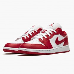 """Nike Air Jordan 1 Low """"Gym Red/White"""" Gym Red/Gym-Red Whte Basketball Shoes 553560 611 AJ1 Sneakers"""