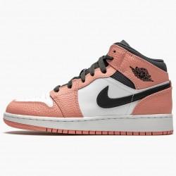 "Nike Air Jordan 1 Mid ""Pink Quartz"" Pink Quartz/DK Smoke Grey Basketball Shoes 555112 603 AJ1 Sneakers"