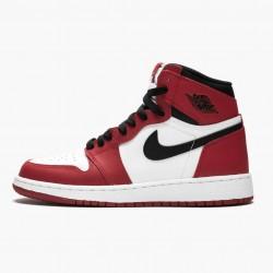 """Nike Air Jordan 1 Retro """"Chicago"""" White/Black-Varsity Red 575441 101 Mens/Womens AJ1 Jordan Sneakers"""