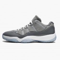 "Air Jordan 11 Low ""Cool Grey"" Unisex Basketball Shoes 528895 003 Medium Grey/White-Gunsmoke AJ11 Black Jordan Sneakers"