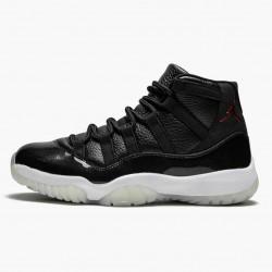 "Air Jordan 11 Retro ""72-10"" Unisex Basketball Shoes 378037 002 Black Gym Red-White-Anthracite AJ11 Black Jordan Sneakers"