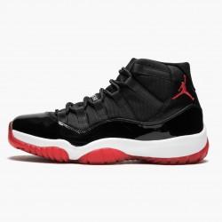 """Air Jordan 11 Retro """"Bred"""" Mens Basketball Shoes 378037 010 Black/Varsity Red-White AJ11 Black Jordan Sneakers"""