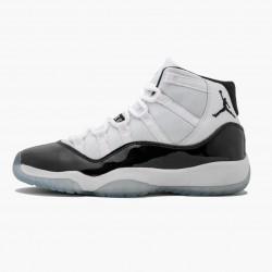 "Air Jordan 11 Retro ""Concord 2018"" Unisex Basketball Shoes 378038 100 White Black-Concord AJ11 Black Jordan Sneakers"