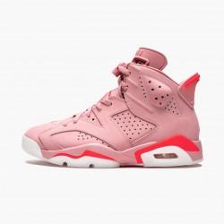 "Air Jordan 6 Retro ""Aleali May"" WMNS Basketball Shoes CI0550 600 Rust Pink/Bright Crimson AJ6 Black Jordan Sneakers"
