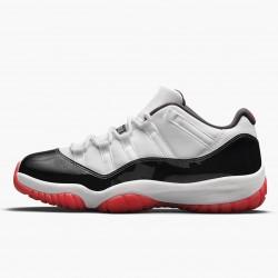 "Nike Air Jordan 11 Low ""Concord Bred"" White/University Red-Black-Tru Basketball Shoes AJ11 AV2187 160 Sneakers"