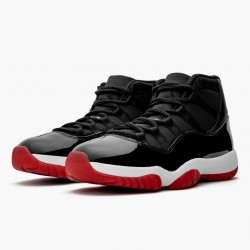 "Nike Air Jordan 11 Retro ""Bred"" 2019 Black/White/Varsity-Red Basketball Shoes 378037 061 AJ11 Sneakers"