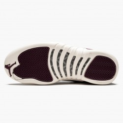 "Air Jordan 12 Retro ""Bordeaux"" Mens AJ12 Basketball Shoes 130690 617 Bordeaux/Sail-Metallic Silver Jordan Sneakers"