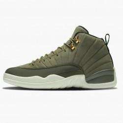 "Air Jordan 12 Retro ""Chris Paul Class of 2003"" Mens AJ12 Basketball Shoes 130690 301 Olive Canvas/Sail/Black-Metall Jordan Sneakers"