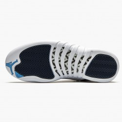 "Air Jordan 12 Retro ""Indigo"" Mens AJ12 Basketball Shoes 130690 404 Stone Blue/Legend Blue-Obsidia Jordan Sneakers"