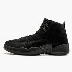 """Air Jordan 12 Retro """"OVO Black"""" Mens AJ12 Basketball Shoes 873864 032 Black/Black-Metallic Gold Jordan Sneakers"""
