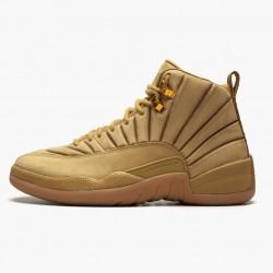 "Air Jordan 12 Retro ""PSNY Wheat"" Mens AJ12 Basketball Shoes AA1233 700 Wheat/Wheat-Gum Light Brown Jordan Sneakers"