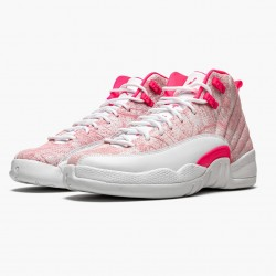 """Air Jordan 12 Retro GS """"Arctic Pink"""" 510815 101 White/Arctic Punch-Hyper Pink Womens AJ12 Jordan Sneakers"""