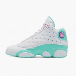 "Air Jordan 13 Retro ""Aurora Green"" Womens Basketball Shoes White/Soar/Aurora-Green-Digita 439358 100 AJ13 Jordan Sneakers"