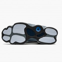 "Air Jordan 13 Retro ""Flint"" Unisex Basketball Shoes Navy/Flint Grey-White-Universi 414571 404 AJ13 Jordan Sneakers"