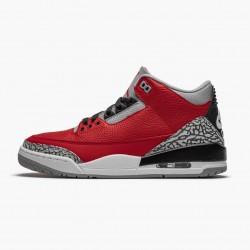 """Air Jordan 3 Retro """"Fire Red Cement"""" Mens Basketball Shoes CU2277 600 Varsity Red AJ3 Jordan Sneakers"""