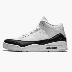 "Air Jordan 3 Retro ""Fragment"" Unisex Basketball Shoes DA3595 100 White/Black-White AJ3 Jordan Sneakers"