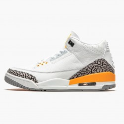 "Air Jordan 3 Retro ""Laser Orange"" Unisex Basketball Shoes CK9246 108 White/Laser Orange-Cement Grey AJ3 Jordan Sneakers"