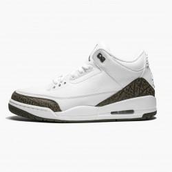 "Air Jordan 3 Retro ""Mocha"" Unisex Basketball Shoes 136064 122 White/Chrome/Dark Mocha AJ3 Jordan Sneakers"