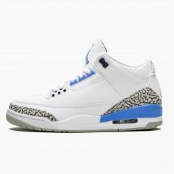 "Air Jordan 3 Retro ""UNC"" Unisex Basketball Shoes CT8532 104 White/Valor Blue-Tech Gray AJ3 Jordan Sneakers"