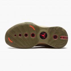 """Air Jordan 34 """"Bayou Boys"""" Mens AJ34 Basketball Shoes DA1897 300 Brown Kelp/Bright Crimson Jordan Sneakers"""