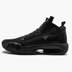 """Nike Air Jordan XXXIV PE """"Black Cat"""" Black/Black-Dark Smoke Grey BQ3381 003 AJ34 Sneakers"""