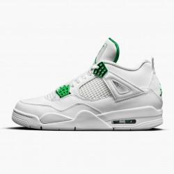 "Air Jordan 4 Retro ""Metallic Green"" Unisex Basketball Shoes CT8527 113 White/Metallic Silver-Pine Gre AJ4 Jordan Sneakers"
