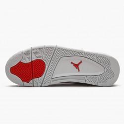 """Air Jordan 4 Retro """"Metallic Orange"""" Unisex Basketball Shoes CT8527 118 White/Team Orange-Metallic Sil AJ4 Jordan Sneakers"""