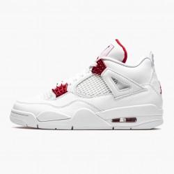 "Air Jordan 4 Retro ""Metallic Red"" Unisex Basketball Shoes CT8527 112 White/Metallic Silver-Univers AJ4 Jordan Sneakers"