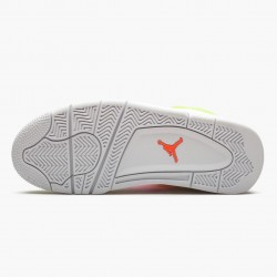 "Air Jordan 4 Retro ""White Lemon Pink"" Unisex Basketball Shoes CV7808 100 White/Lemon Venom/Pink Blast AJ4 Jordan Sneakers"