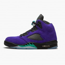 "Air Jordan 5 Retro ""Alternate Grape"" Mens Basketball Shoes Grape Ice/Black-Clear-New Emer 136027 500 AJ5 Jordan Sneakers"