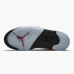 "Air Jordan 5 Retro ""Fire Red Silver Tongue"" Mens Basketball Shoes True White/Fire Red-Black DA1911 102 AJ5 Jordan Sneakers"