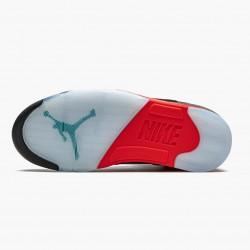 "Air Jordan 5 Retro ""Top 3"" Mens Basketball Shoes Black/Fire Red-Grape Ice-New E CZ1786 001 AJ5 Jordan Sneakers"