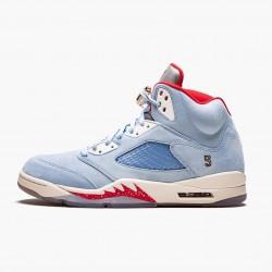 "Air Jordan 5 Retro Trophy Room ""Ice Blue"" Unisex Basketball Shoes Ice Blue/University Red-Sail-M CI1899 400 AJ5 Jordan Sneakers"