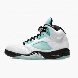 "Air Jordan Retro 5 ""Island Green"" Unisex Basketball Shoes White/Black-White-Island Green CN2932 100 AJ5 Jordan Sneakers"