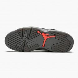 "Air Jordan 6 Retro ""PSG Paris Saint-Germain"" Unisex Basketball Shoes CK1229 001 Iron Grey/Infrared 23-Black AJ6 Black Jordan Sneakers"