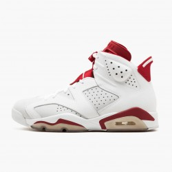 "Air Jordan Retro 6 ""Alternate"" Unisex Basketball Shoes 384664 113 White/Gym Red-Pure Platinum AJ6 Black Jordan Sneakers"