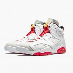 "Air Jordan 6 Retro ""Hare"" CT8529 062 Neutral Grey/White-True Red-Bl Unisex AJ6 Jordan Sneakers"