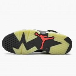 "Travis Scott x Air Jordan 6 Retro ""Olive"" Unisex Basketball Shoes CN1084 200 Medium Olive/Black-Sail/Univer AJ6 Black Jordan Sneakers"