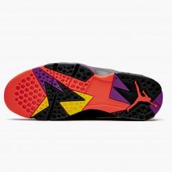 "Air Jordan 7 Retro ""Black Patent"" Unisex Basketball Shoes Black/Anthracite-Smoke Grey-Br 313358 006 AJ7 Jordan Sneakers"