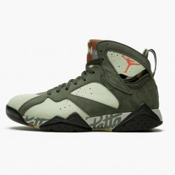 "Air Jordan 7 Retro ""Patta Icicle"" Unisex Basketball Shoes Icicle/Sequoia-River Rock/Ligh AT3375 100 AJ7 Jordan Sneakers"