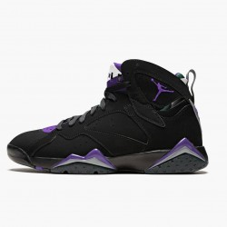 "Nike Air Jordan 7 Retro ""Ray Allen"" Black/Fierce Purpler/Dark Stee Basketball Shoes 304775 053 AJ7 Sneakers"