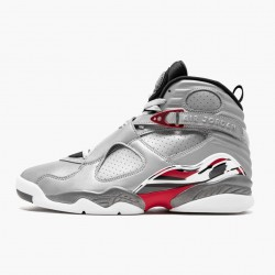 "Nike Air Jordan 8 ""Reflections of a Champion"" Reflect Silver/Hyper Blue-True Basketball Shoes AJ8 CI4073 001 Sneakers"